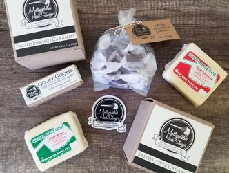 Subscription box. Surprise box. Food subscription box. Made in Oklahoma products. Local cheese. Swan Brothers Dairy. Candy.